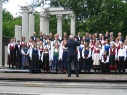 Utekonsert i Warszawa, Polen 2004